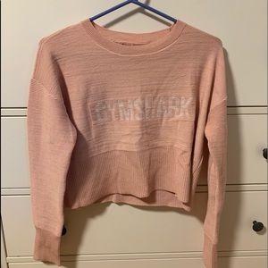 Blush color gymshark pullover NWOT